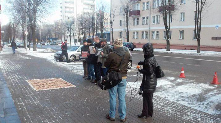 Альтернатива» провели в Молодечно акцию против принудительного труда