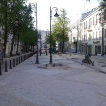 В Минске возводят пешеходную улицу