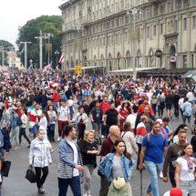Таким был исторический Марш Новой Беларуси