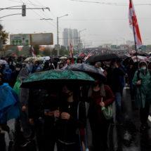 Очередной воскресный марш прошёл в условиях жестких действий силовиков
